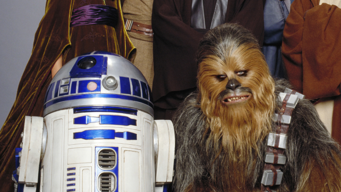 Chewbacca and R2-D2 are rebel secret agents
