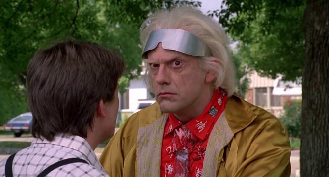 Doc försöker begå självmord i Back to the Future