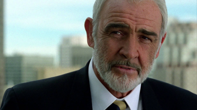 Sean Connery is James Bond in The Rock