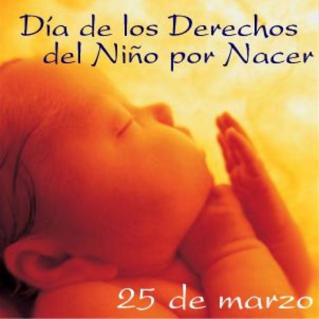 Dia da criança para nascer (25 de março)