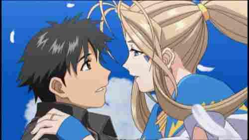 Belldandy y Keiichi ( Ah Megami-Sama)
