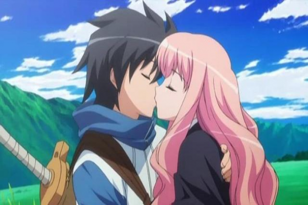 Louise y Saito (Zero no Tsukaima)