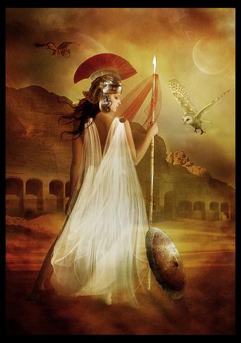Афина, олимпийская богиня мудрости