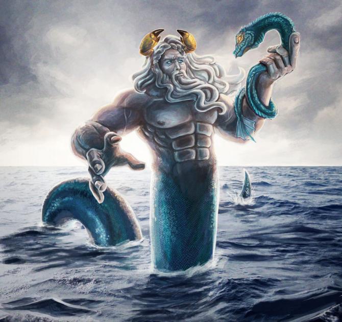 Океан, титановый бог океанов
