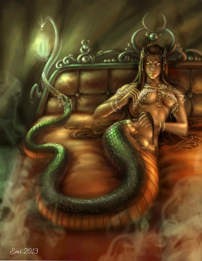 Ехидна, богиня нимф, мать монстров