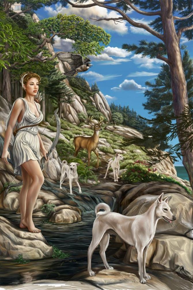 Artemis, Olympic goddess of the hunt