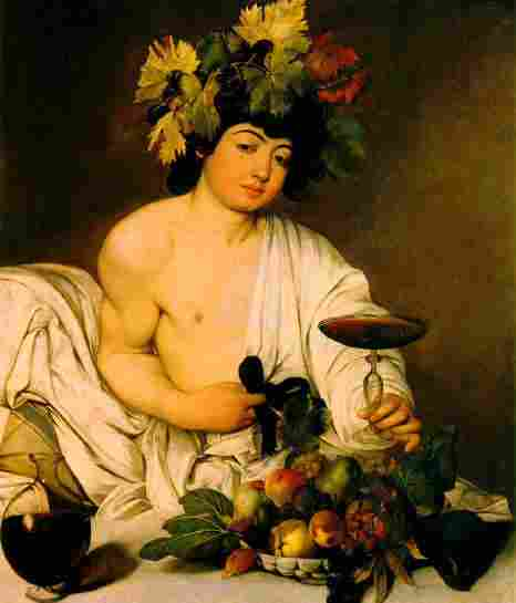 Dionysus, the Olympic god of wine