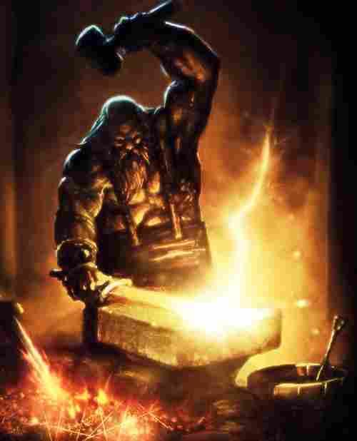 Hephaestus, Olympic god of metallurgy