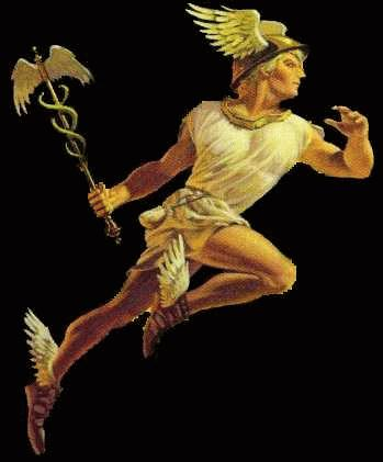 Hermes, Olympic god of the messengers