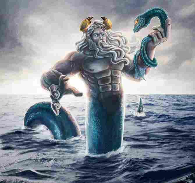 Ocean, titan god of the oceans