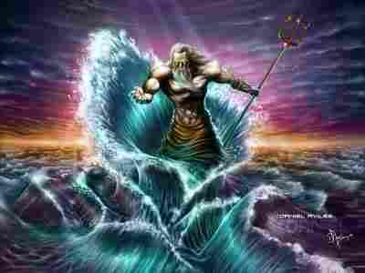 Poseidon, olympic god of the sea