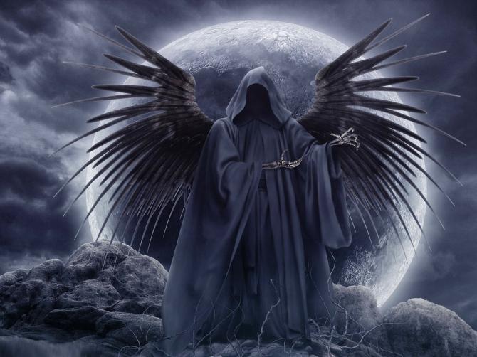 Tanato, god daimón of the death