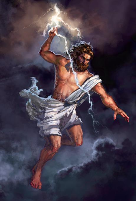Zeus, Olympic god of heaven