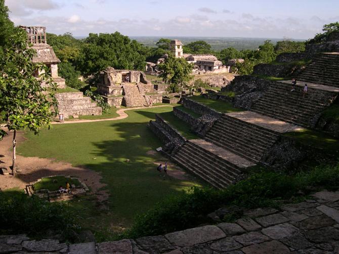 Археологическая зона Паленке в штате Чьяпас (Мексика)