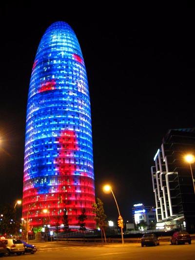 Agbar Tower in Barcelona (Spain)