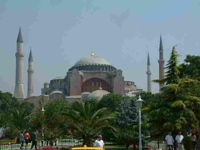 Basilica of Santa Sofia in Istanbul (Turkey)