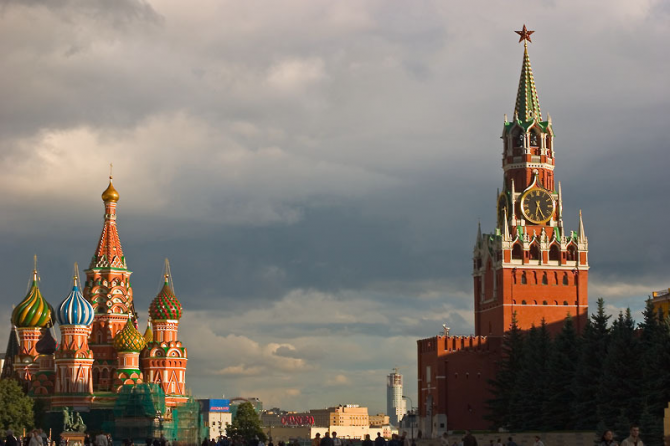 Kremlin and Red Square in Moscow (Russia)