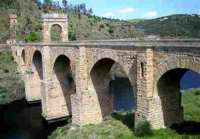 Roman Bridge of Alcantara in Cáceres (Spain)