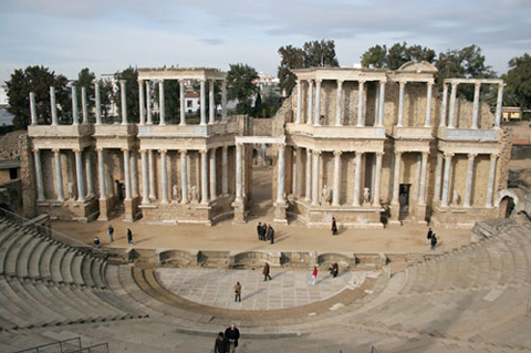 Roman theater in Merida (Spain)
