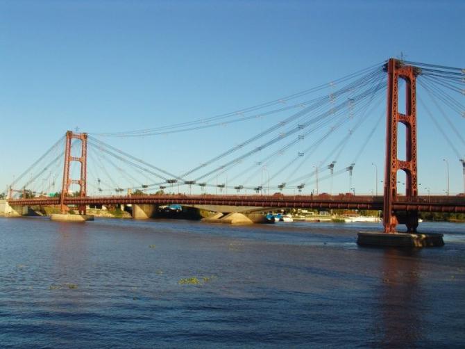 Suspension Bridge in Santa Fe (Argentina)