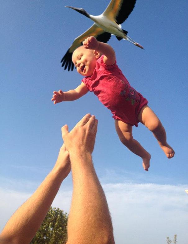 Och storken förde oss en baby ...