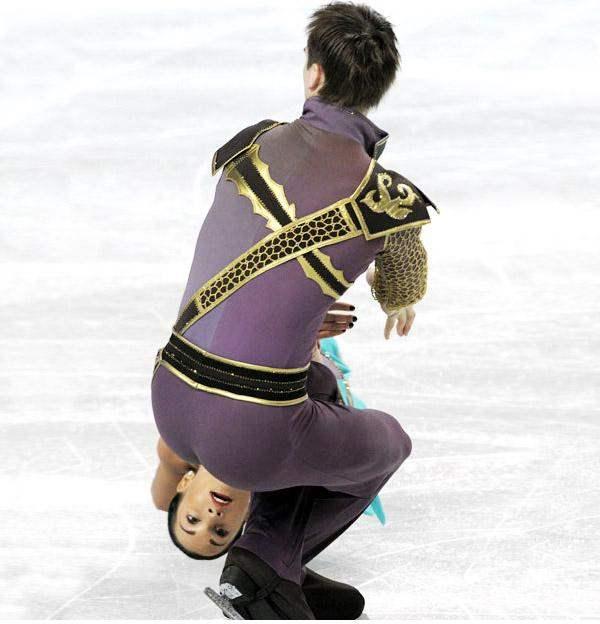 Y a eso le llaman patinaje artistico, claro