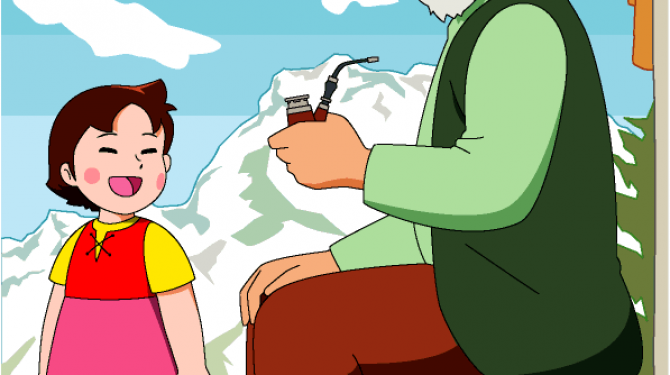 Großeltern und Großmütter Cartoon