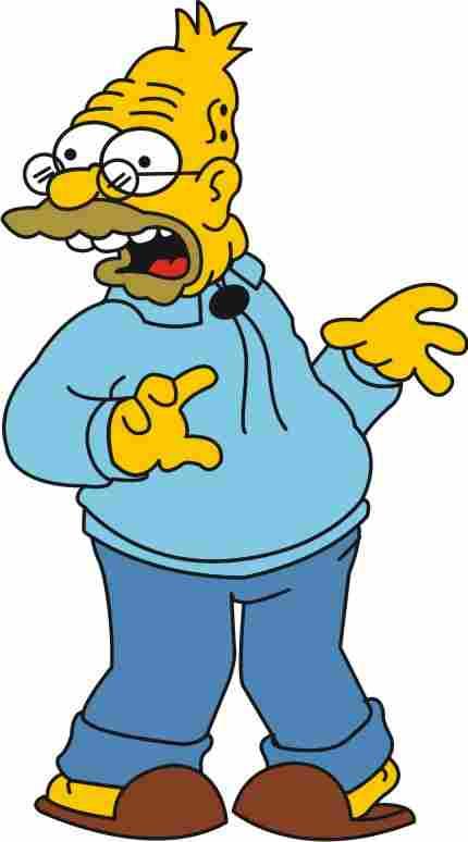 Großvater Bart, Lisa und Maggie (Die Simpsons)